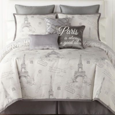 Buy Jcpenney Home Paris Jacquard 7 Pc Comforter Set At Jcpenney