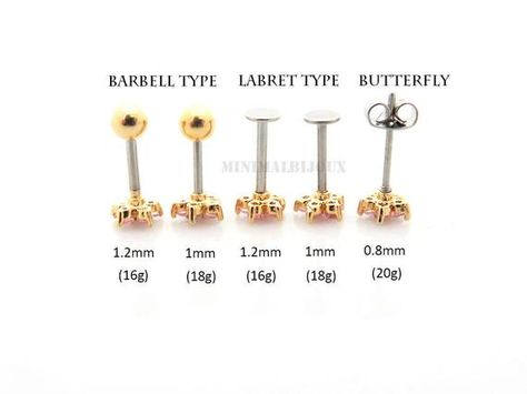 18G Rainbow Colorline Clear Gem Sparkle Cartilage Tragus Barbell Sold Individually
