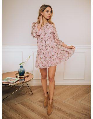 Sukienka Camile Jasny Roz W Kwiaty Fashion Long Sleeve Dress Dresses With Sleeves