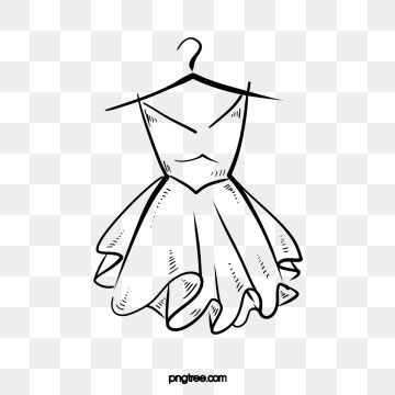 Fashion Clothing Hand Drawn Illustration Black Line Simple Skirt Hand Painted Fashion Black Png Transparent Clipart Image And Psd File For Free Download How To Draw Hands Drawing Illustration Black