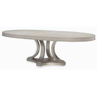 Darya Extendable Solid Wood Dining Table With Images Oval