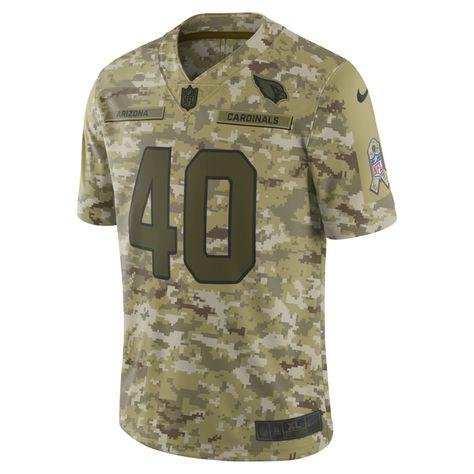 d1c790d72 NFL Arizona Cardinals Salute to Service Limited Jersey (Pat Tillman) Men s  Football Jersey Size 3XL (Camper Green)