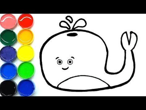 Cara Menggambar Dan Mewarnai Ikan Paus Lucu Di 2020 Ikan Paus