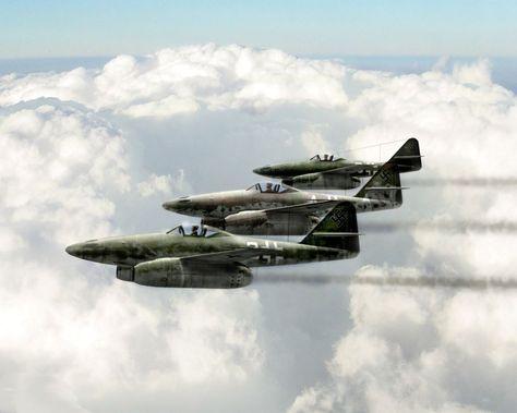 German Me-262 Fighter Flight