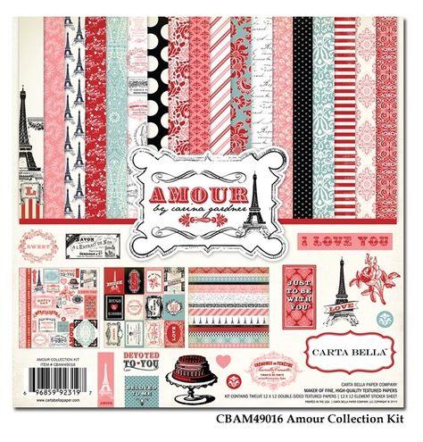 FabScraps Christmas Memories Kisses 12 x 12 paper pack of 25