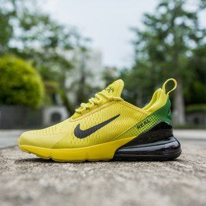 Mens Nike Air Max 270 World Cup Yellow Green Black Sneakers