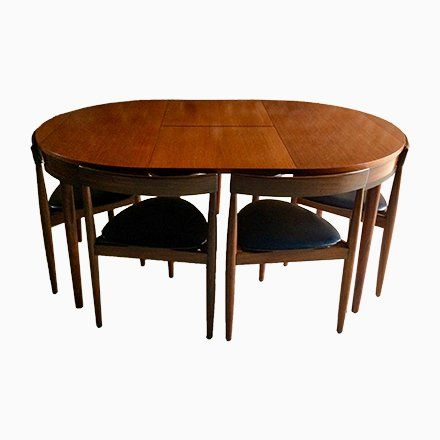 Extendable Dining Table With 6 Chairs By Hans Olsen For Frem Rojle