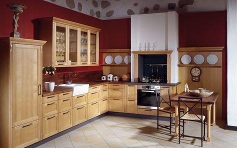 Landhausküche eiche Landhausküchen Pinterest Kitchens - landhauskche mit kochinsel