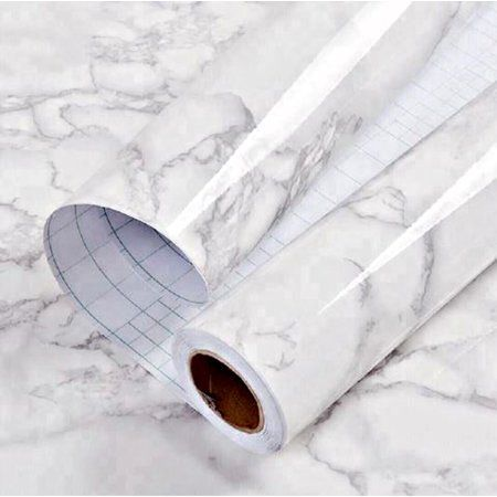 White Marble Commercial Grade Contact Paper Self Adhesive Removable 24 X 16 Ft Walmart Com In 2021 Marble Paper Thick Wallpaper Professional Decor