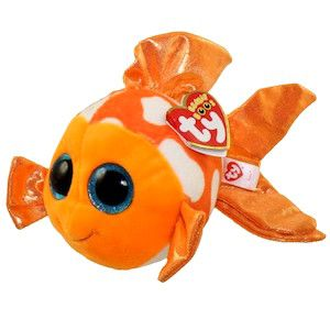 Glitter Eyes 6 inch NEW MWMT SAMI the Orange Fish TY Beanie Boos