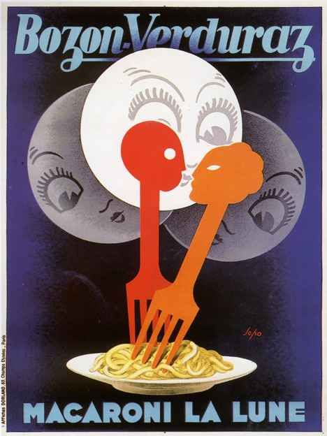 Lustucru Pasta 1920 French Chef Food Kitchen Decor Vintage Poster Print