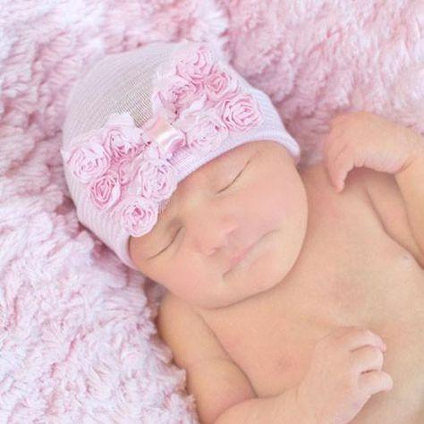 Newborn Baby Bow Cap Beanie Boy Girl Toddler Children Cotton Soft Knot Fetal Hat