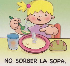 No Sorber La Sopa Buenos Modales Para Ninos Habitos De Higiene Modales En La Mesa