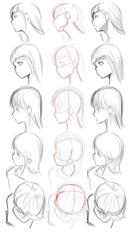 53 Ideas For Drawing Hair Profile Anime Art Anime Drawings Tutorials Manga Drawing Drawings