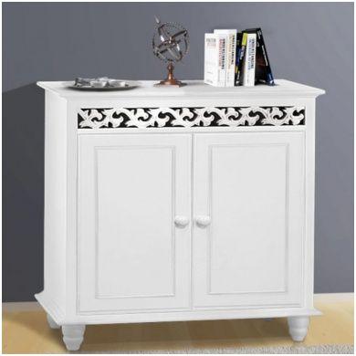 Sauber Kommode 90 Cm Breit Weiss Wooden Cabinets White Sideboard Shelf Furniture