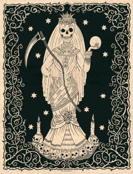 La Nina Blanca Santa Muerte Posters And Prints Art