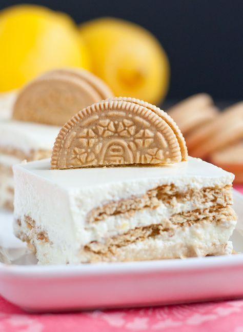 Lemon Oreo Jello Mousse Cake Recette Recipes Lemon Pinterest