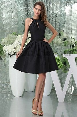 d02e630fd9c Chic Short Black A-Line Party Graduation Little Black Dresses ...
