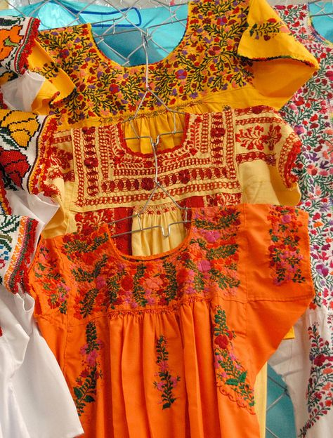 Mexican Peasant Blouses. It's all about the color