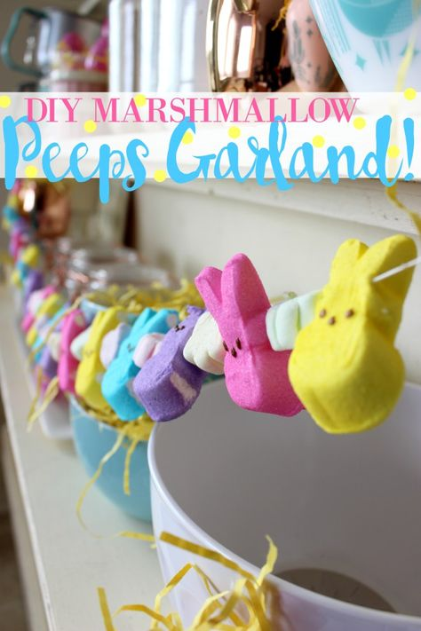 DIY Marshmallow PEEPS Easter Garland Decorations!
