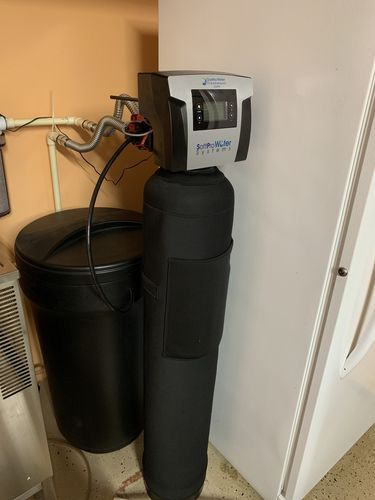 Great Water Softener Had To Redo Some Plumbing From My Old Softener Which Took Longer Than Installation Of The S Water Softener Softener Soft Water