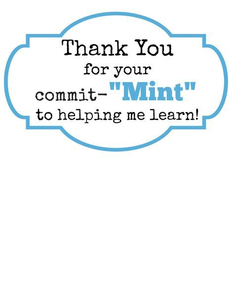 picture relating to Thank You for Your Commit Mint Free Printable called Trainer Present Notion: Thank Oneself for Your Make investments-MINT with