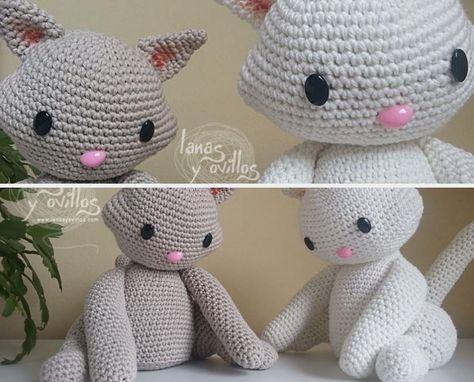 Gatto fermaporta all'uncinetto -tutorial amigurumi crochet - cat ... | 382x474
