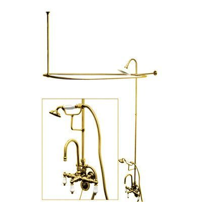 Kingston Brass Vintage Triple Handle High Rise Gooseneck Clawfoot