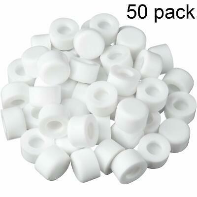 50 Pack Rubber Door Stop Bumper Tips White Silicone Door Stop Caps