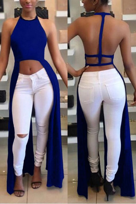 Sexy Women Backless Halter Fashion Crop Top Shop- Women's Best Online Shopping - Offering Huge Discounts on Dresses, Lingerie , Jumpsuits , Swimwear, Tops and More.