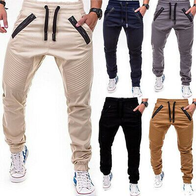 New Chino Slim Fit Straight-Leg jeans Trousers Casual pencil Business Pants Mens