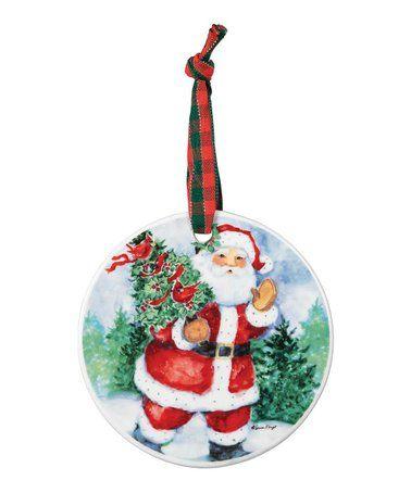 Loving This Santa Claus Porcelain Ornament On Zulily Zulilyfinds Porcelain Ornaments Porcelain Christmas Ornaments Vintage Porcelain