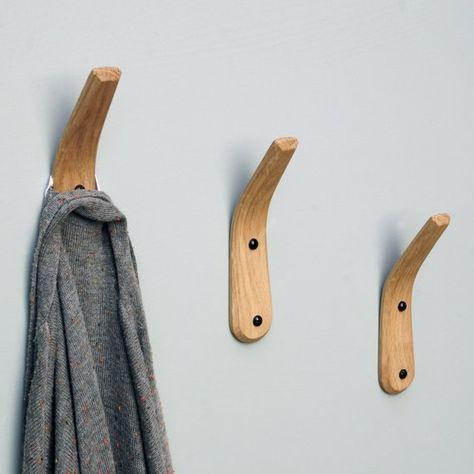 Coat Hook Towel Hook Coat Rack Wood Towel Hook Oak Hook