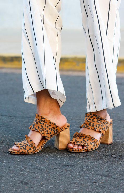 89575ae22982 Free People Rosie Ruffle Heel  Leopard