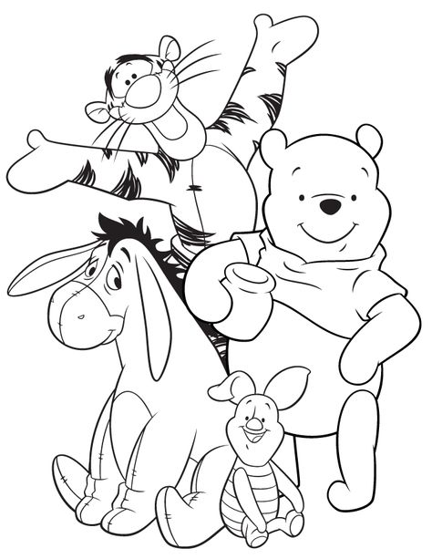 57 New Release Pictures Of Winnie the Pooh and Piglet Coloring Pages ...