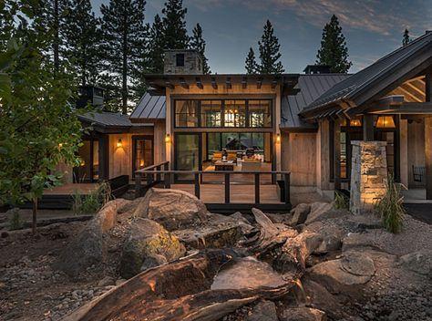 Mountain Farmhouse 518 The Sandbox Studio Wooden House Design Mountain Home Exterior Modern Mountain Home