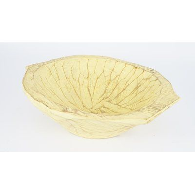 Yellow Decorative Bowl Bloomsbury Market Round Wooden Dough Decorative Bowl Color Upbeat