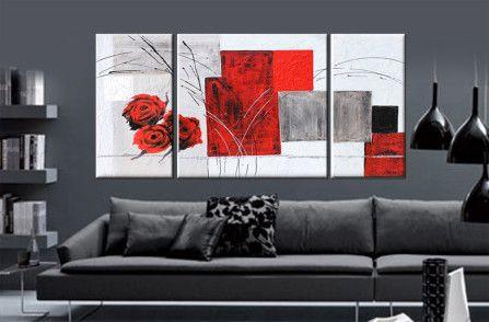 Quadro astratto moderno quadro astratto rosso quadro moderno ...