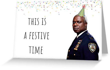 Brooklyn Nine Nine Captain Holt Card Sticker Mug Birthday