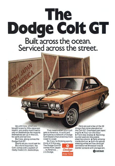 1974 Dodge Colt GT Coupe Sedan Wagon Vintage Sales Brochure