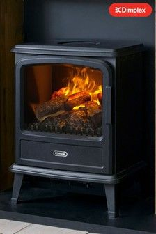 Black Evandale Opti Myst Electric Stove By Dimplex Fireplace