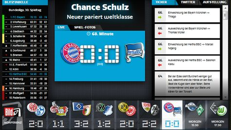 It was 0:0, as I just opened the live ticker @FCBayern vs @HerthaBSC,but 1:0 after I opened/watched, told you that I am never late for the goals, coz the goals always after me lol http://www.bild.de/bundesliga/1-liga/saison-2014-2015/fc-bayern-muenchen-gegen-hertha-bsc-am-30-Spieltag-36650418.bild.html