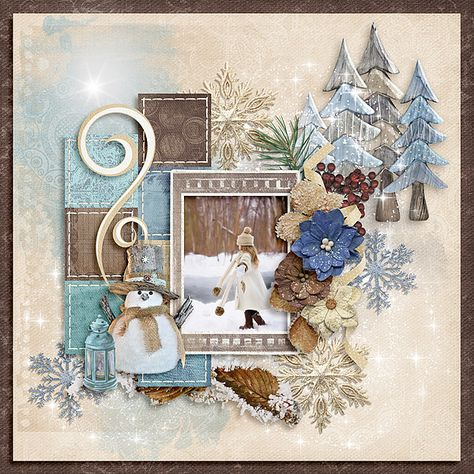 kimeric kreations: Wintertide - new this week - and a wonderful cluster to share! Christmas Scrapbook Layouts, Disney Scrapbook, Baby Scrapbook, Scrapbook Albums, Scrapbook Cards, Scrapbook Layout Sketches, Scrapbook Designs, Scrapbooking Layouts, Christmas Card Crafts