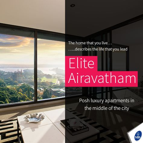 Luxury apartments living in the middle of city - Elite Airavatham. Trusted Builder for your Home! #LuxuryApartment #ModernAmenities #Trichy #MangalHomes