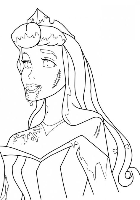 Disney Zombie Movie Coloring Pages - Coloring And Drawing
