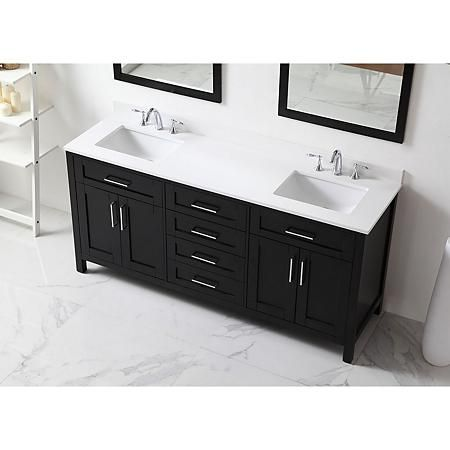 Ove Decors Tahoe 72 In Bathroom Vanity With Mirror Espresso Sam S Club Bathroom Sink Vanity Double Sink Bathroom Vanity