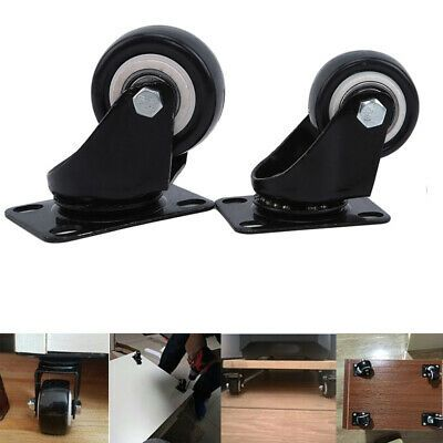 Details About Heavy Duty Swivel Castor Wheels Trolley Practical