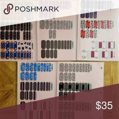 Jamberry Lot Of 12 Partial Sheets 12 partial sheets of Jamberry nail wraps. Smoke/Pet free home. Other