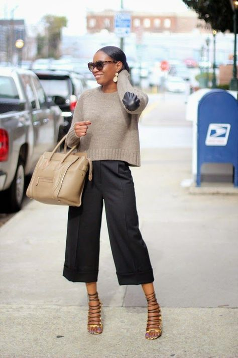 How to Style Culottes | Awed by Monica | #fashion #womensfasion #ootd