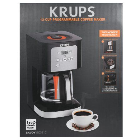 Krups Ec321 12 Cup Thermobrew Programmable Coffee Maker With